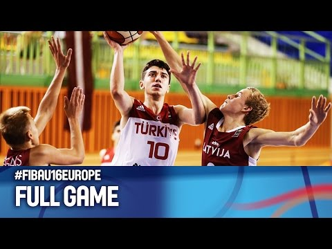 Turkey v Latvia - Full Game - R 16 - FIBA U16 European Championship 2016