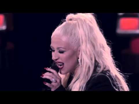 "Christina Aguilera Sings ""I will always love You"" and ""I put a Spell on you"" with Joe Maye"
