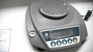 Лабораторные - ювелирные весы Acom JW 1 - обзор(, 2013-11-28T05:54:45.000Z)