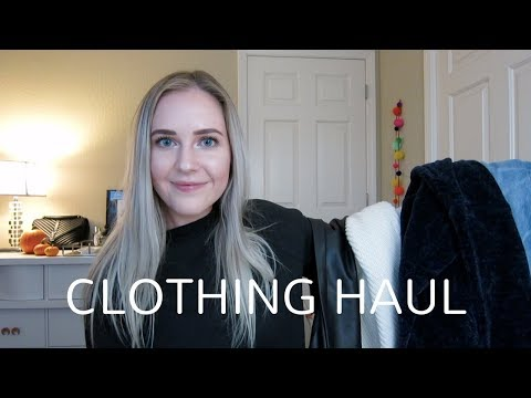 CLOTHING HAUL | Fall Wardrobe & Merch Purchases
