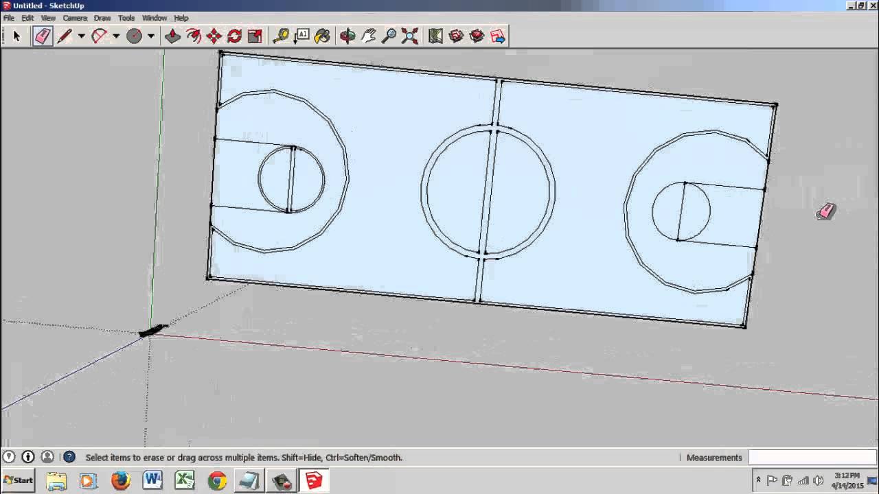 Membuat Lapangan Basket Dengan Google Sketch Up Youtube