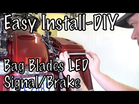 How to Install Ciro 3D Bag Blades LED Run/Brake/Signal Lights on Harley Touring