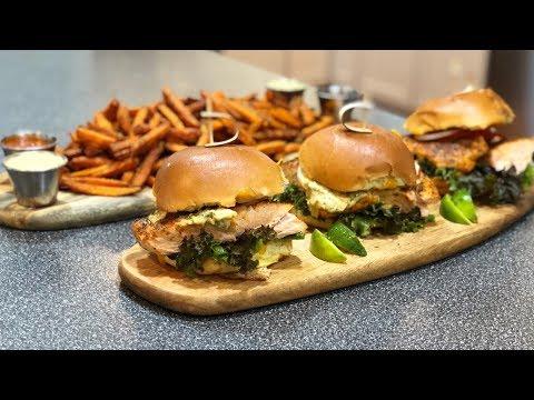 Blackened Salmon Burger