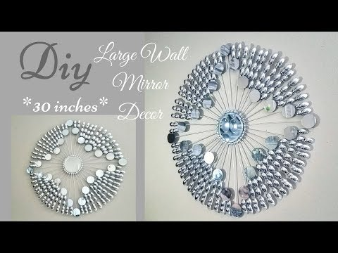 Diy Large Decorative Wall Mirror Decor (30 inches)| Quick and Easy!