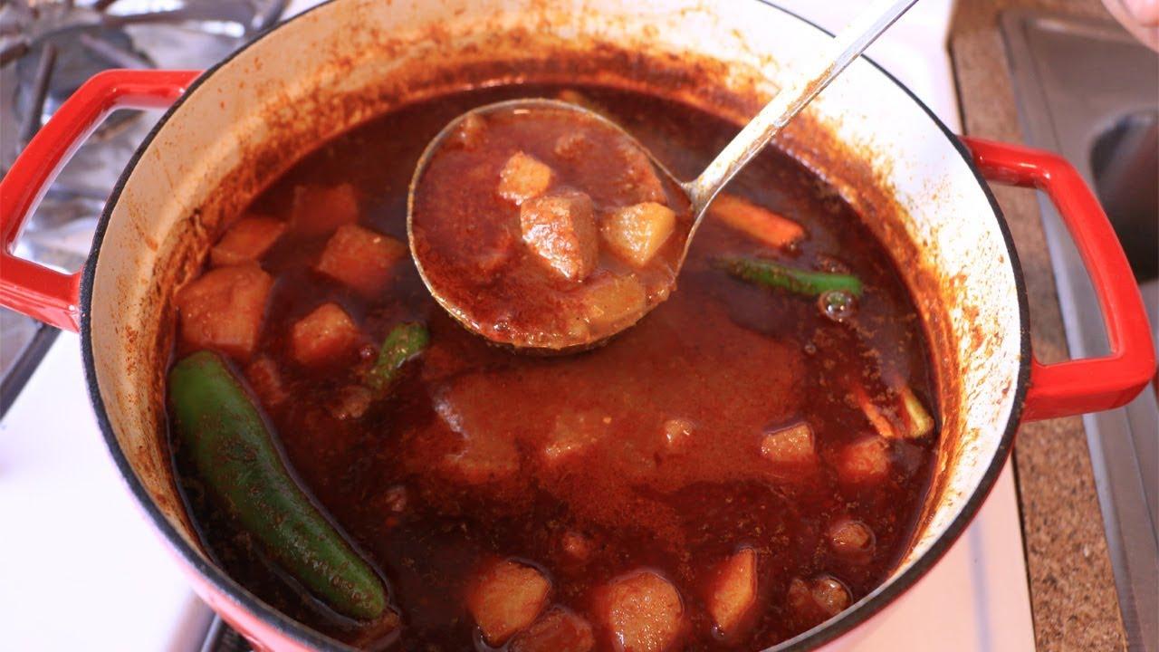 ማማዬ Ethiopian Food/Cooking - How to Make Dinich Be Siga Key Wot - የድንች በስጋ ቀይ ወጥ አሰራር