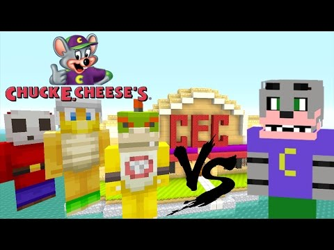 Minecraft Wii U - Nintendo Fun House - Bowser Jr VS Chuck E Cheese! [72]