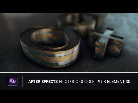 After Effects - Epic Logo Google Plus Element 3d V2 (Tutorial)