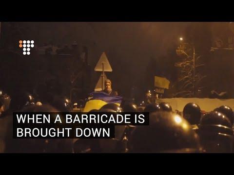 When A Barricade is Brought Down  December 10, 2013  Euromaidan, Kyiv, Ukraine