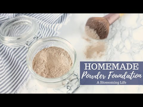 DIY Homemade Face Powder Foundation - YouTube