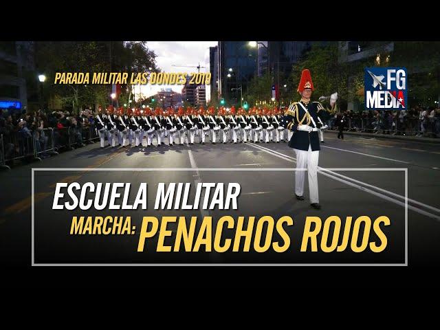 Escuela Militar interpreta Penachos Rojos mientras se desplaza en la Parada Militar Las Condes 2019