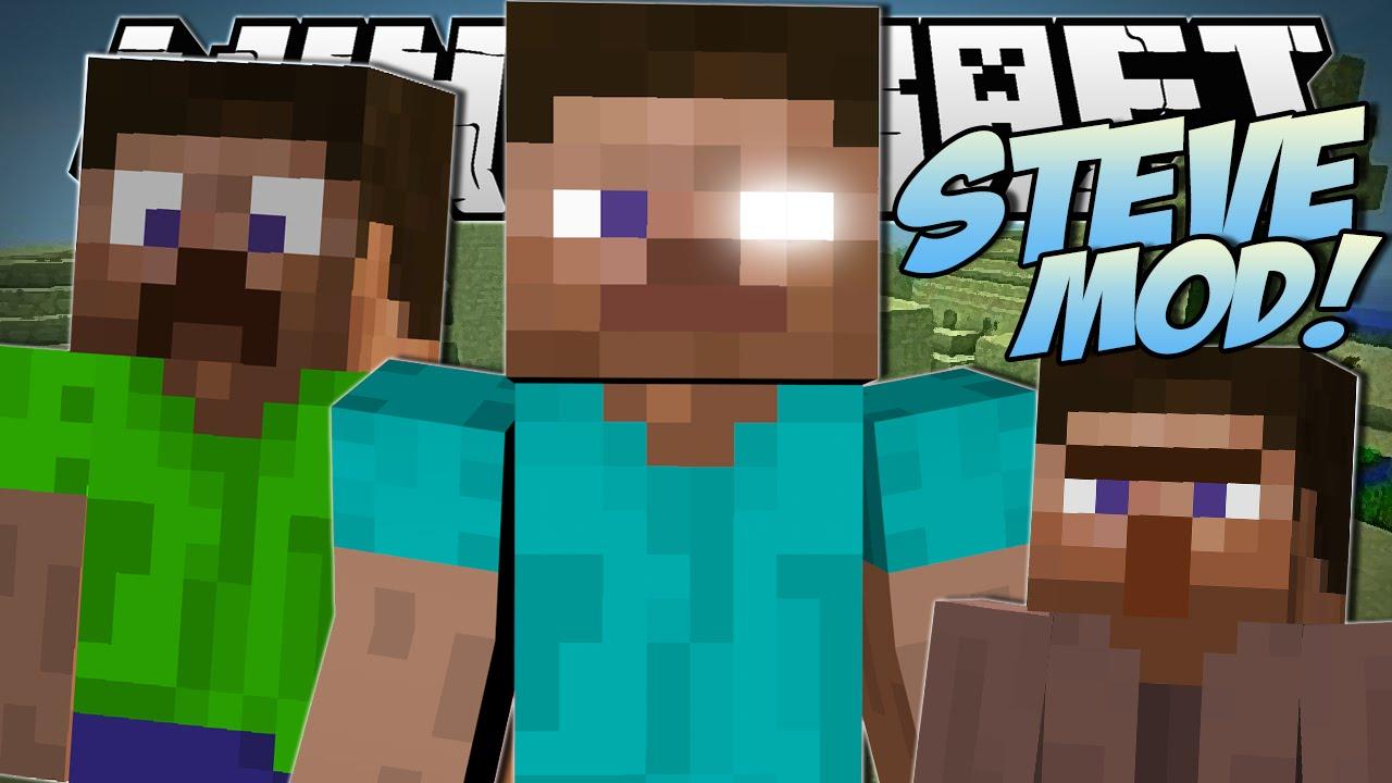Minecraft steve mod creeper steve killer steves more mod showcase youtube - Minecraft creeper and steve ...