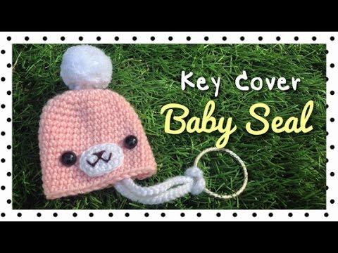 โครเชต์ที่ครอบกุญแจแมวน้ำ (Crochet Baby Seal Key Cover/English Subtitles)