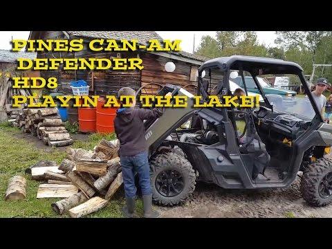 Pines Can-am Defender HD8 At the Lake!