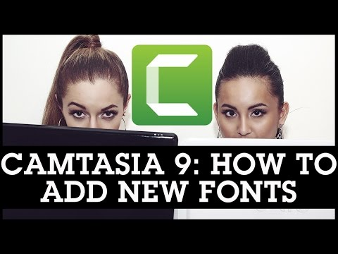 Camtasia 9 Tutorials: How To Add / Install New Fonts For Your Videos