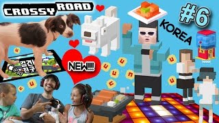 Our Dog Rose plays CROSSY ROAD KOREAN Update w/ US!  PSY, JINDO, KIMCHI, BBQ & MORE! (FGTEEV Part 6)
