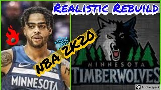 Minnesota T-Wolves Realistic Rebuild (NBA 2K20)! D'angelo Russell Trade forms BIG 3 w/ KAT & Wiggins