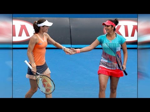 Sania Mirza-Martina Hingis wins Australian Open 2016: Sania Mirza-Martina Hingis wins Australian Open 2016 beating Hradecka-Hlavackova in the women's doubles final at the Australian Open 2016.   भारतीय टेनिस स्टार सानिया मिर्ज़ा और उनकी साथी मार्टिना ने अपना शानदार प्रदर्शन करते हुए ऑस्ट्रेलिया ओपन 2016  के महिला युगल का ख़िताब अपने नाम कर लिया है | फाइनल मुकाबले में उन्होंने हरदेका-हलवाकोवा की जोड़ी को हरा कर ख़िताब अपने नाम किया |