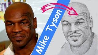Как нарисовать Майка Тайсона карандашом поэтапно / How To Draw Mike Tyson With A Pencil Step By Step