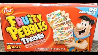 POST Fruity Pebbles Treats Cereal Bars Review