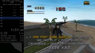 Tony Hawk's Pro Skater 2 PC Any% Speedrun in 2:56