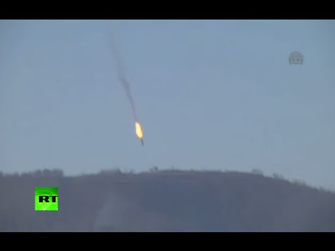 RAW: Russian Su-24M fighter jet shot down over Syria