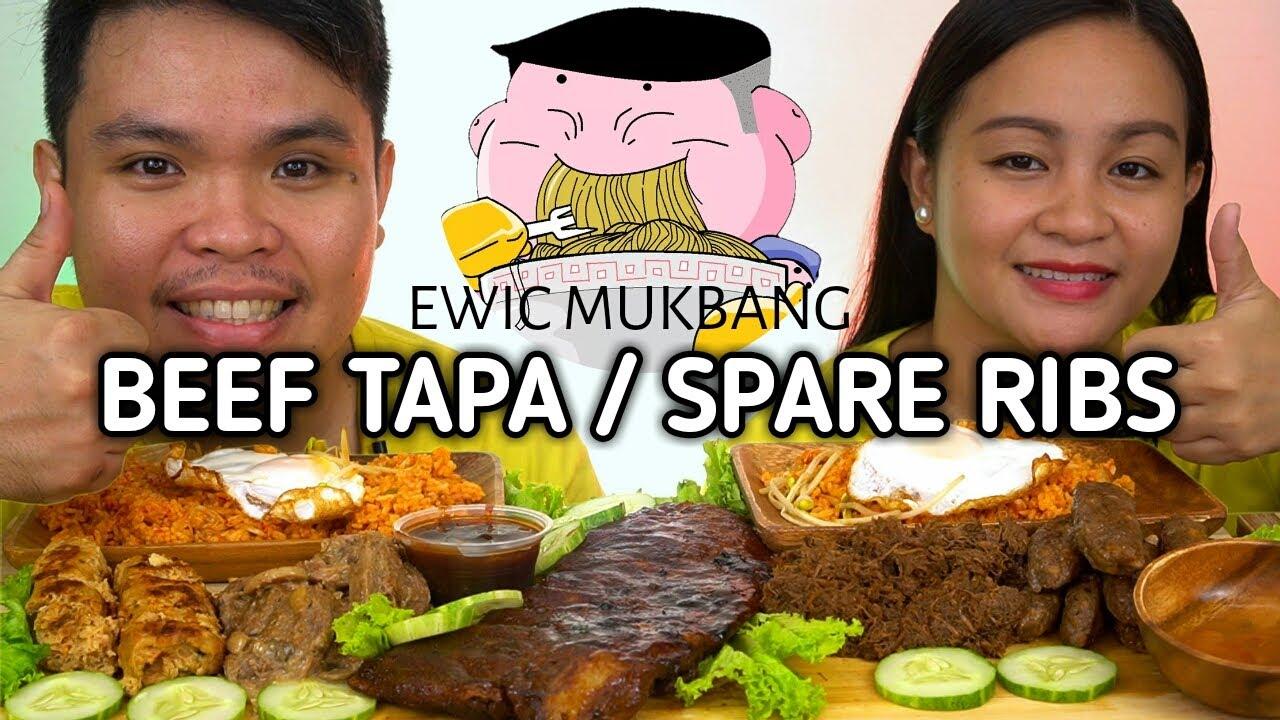 BEEF TAPA, SPARE RIBS, LONGGANISA Mukbang By C SIG BOY / Filipino Food Mukbang / Mukbang Philippines