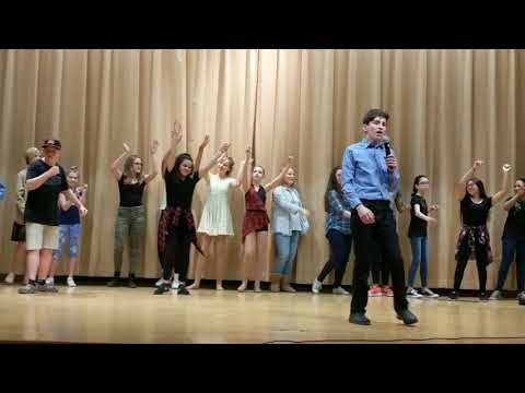 David Lip Syncs to Whitney Houston | Leonardtown Middle School