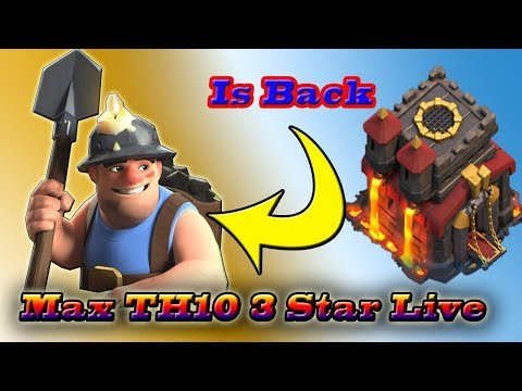 TH10 3 Star War Miner Strategy Live Attack | TH10 New 3 Star Strategy | Clash Of Clan