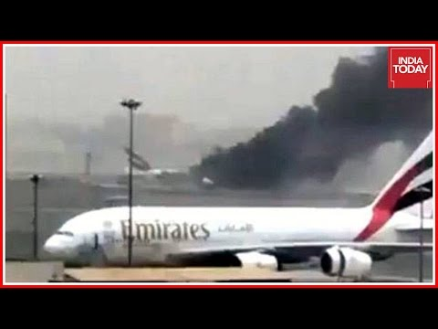 Emirates Flight Crash Lands At Dubai International Airport