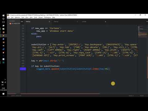 Python Tutorial -    Advanced Keylogger    Code Walk-through    Hacking/Info-Sec    thumbnail