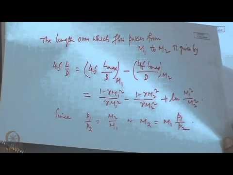 Mod-08 Lec-21 Isothermal flow in ducts with friction