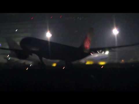 Taiwan Taoyuan international airport  RCTP  Night  Flight