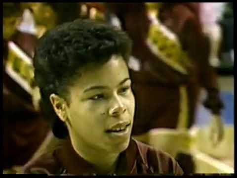 NCAAW Basketball   1986 Finals   Texas Coach Jody Conradt VS USC F Cheryl Miller   1st Half  imaspor