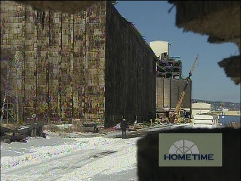 How They Salvage Old Lumber from Duluth Grain Elevators