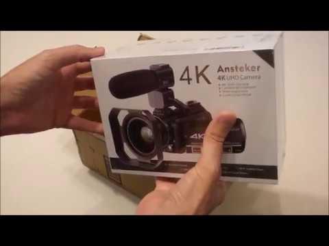 Ansteker 4k Ultra-HD Wifi Camcorder - Unboxing