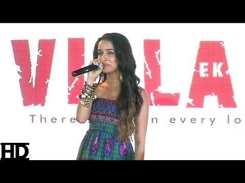 Shraddha Kapoor Sings Galliyan Song