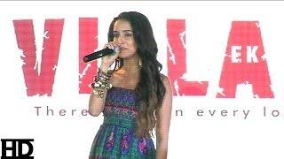 Repeat youtube video Shraddha Kapoor Sings Galliyan Song
