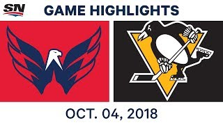 NHL Highlights | Capitals vs. Penguins - Oct. 4, 2018