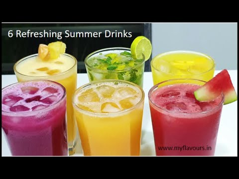 6 Refreshing Summer Drinks/6Easy Fruit juice Recipes for Summers/Fruit Juice/Summer Drink/myflavours