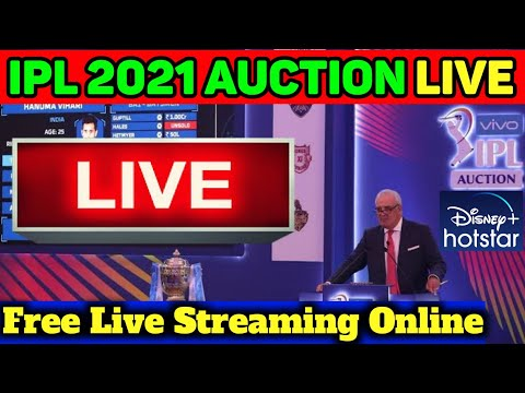 IPL 2021 Auction Live Streaming; Free Live Streaming Online, Big news