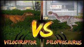Dinosaur Battles - Velociraptor Vs Dilophosaurus | Jurassic Park : Operation Genesis