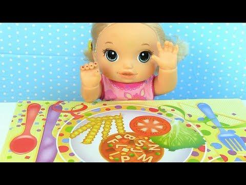 Куклы Пупсики НАКЛЕЙКИ С ЕДОЙ Мультик Для Самых Маленьких Мама и дочка Игрушки для девочек