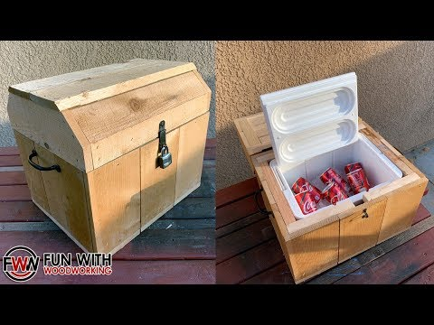 How to Build a Pirate Treasure Chest Cooler Box with a secret compartment!!