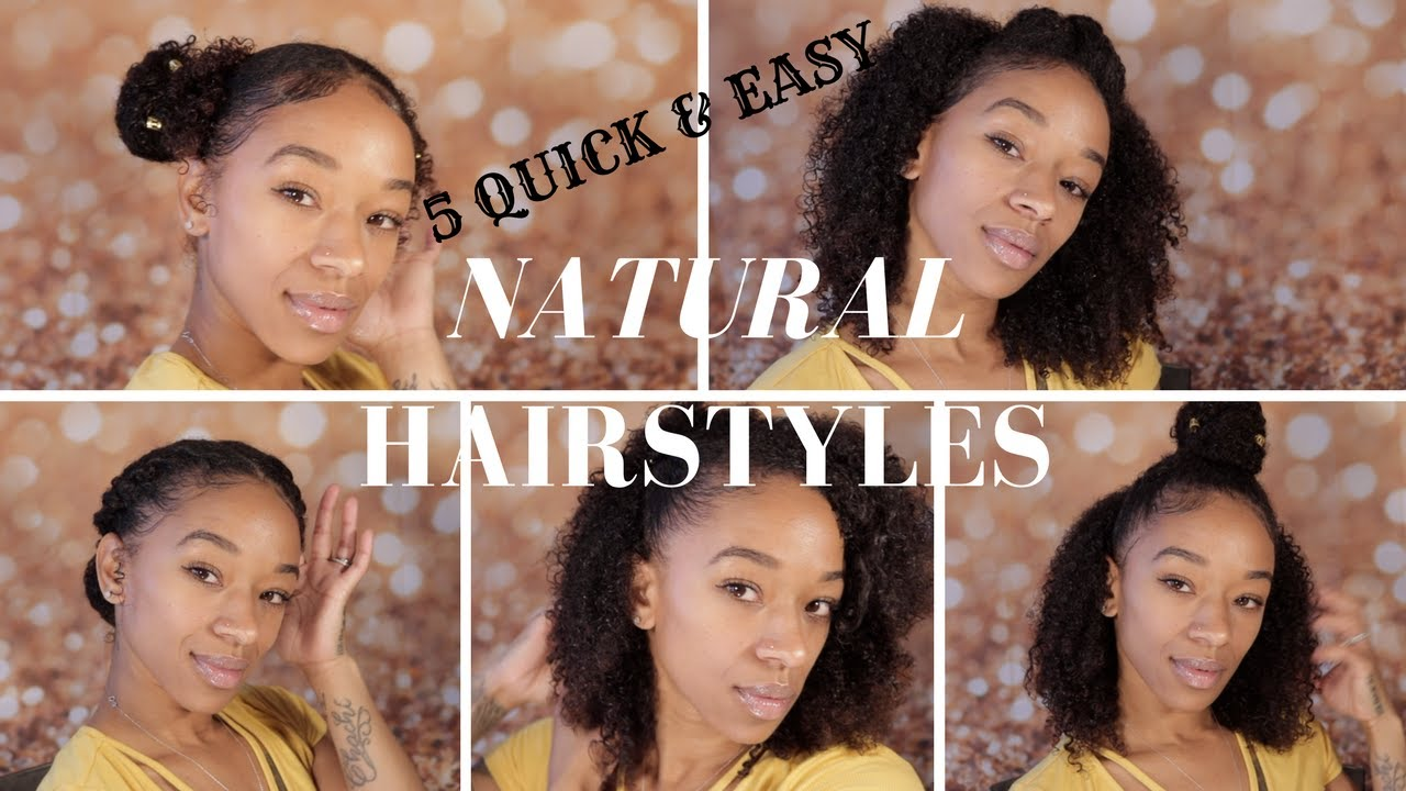 5 quick & easy natural hairstyles