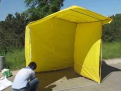 Сборка торговой палатки 2х2 м.