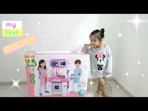 Unboxing Pink Kitchen Toys with sound - Cooking & kitchen Toys for Girl - ELC TOYS