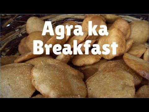 5 good Breakfast places in Agra | India:  Bedhai puri, kachori & Jalebi