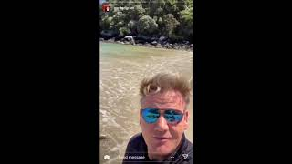 Gordon Ramsay showcasing New Zealand's Beauty