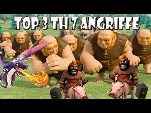Top 3 CW Angriffsstrategien RH7   Let´s Play CoC/ Clash of Clans   Deutsch/ German