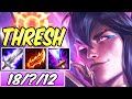 *NEW BROKEN BUILD* ON-HIT FULL AD THRESH TOP SPIRIT BLOSSOM + PRESS THE ATTACK | League of Legends